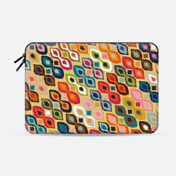 "carnival ikat yellow Macbook Pro 13"" sleeve by Sharon Turner 