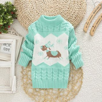 Cable Knit Moose Sweater