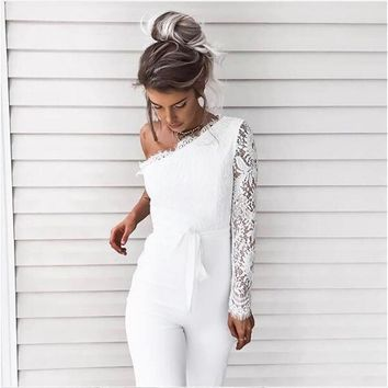 Lydia One-Shoulder Sleeved Jumpsuit