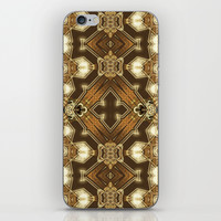 Golden Mali | Fractal Ruffles iPhone & iPod Skin by Webgrrl