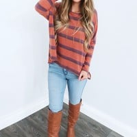 Cozy Stripe Sweater: Multi