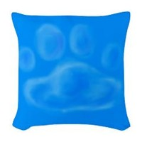 Woven Throw Pillow> Pawprint Cloud> Weasel Puppy's Flyball and Dog Stuff