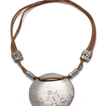 Circle of Life Adjustable Medallion Necklace