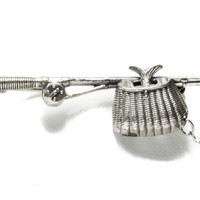 Fun Sterling Fishing Pole and Basket Pin by BellmansOnlineStore