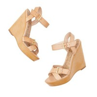 Kari Leather Wedge Sandals