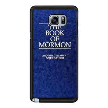 The Book Of Mormon Cover Book Samsung Galaxy Note 5 Case