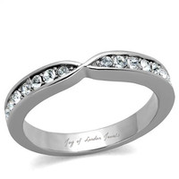 A Perfect 2TCW Solitaire Cut Russian Lab Diamond Ring Wedding Bands Eternity Ring