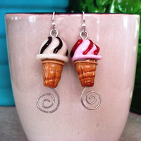 Sweet Foodie Ice Cream Cone Earrings
