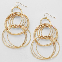 Multi Hoop Drop Earrings Gold