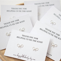 Bridesmaid Jewelry, Bridesmaid Earrings, Bridesmaid Earrings Set of 3, 4, 5, 6, thank you for helping us tie the knot, bridesmaid gift