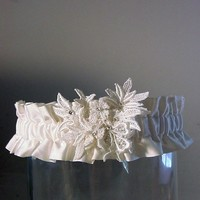 wedding garter Your own Heirloom made from your by PetereneDesign