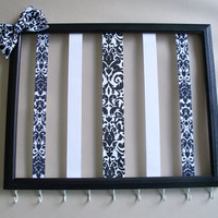 11x14 Picture frame hair bow holder and by MaggieMayeDesigns