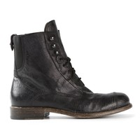 Diesel Black Gold Lace-Up Boot