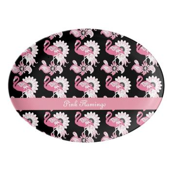 Cute and Whimsical Paisley Pink Flamingo