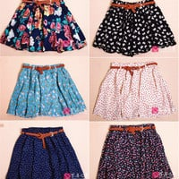 SALE Retro High Waisted Vintage Floral Skirt