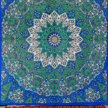 Indian Tapestry Wall Hanging, Star Wall Art, Universe Mandala Tapestry, Queen Bedding, Bohemian Tapestries, Printed Fabric, Beach Blanket