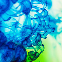 Blue Green Abstract Photography | Unique Colorful Smoke Art Print| 8x10 16x20 Ikea Ribba