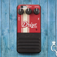 iPhone 4 4s 5 5s 5c 6 6s plus iPod Touch 4th 5th 6th Generation Cute Custom Distortion Pedal Box Red Rock Roll Band Music Guitar Cover Case