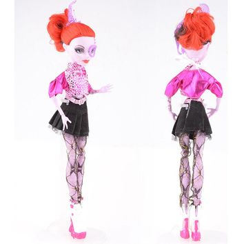 NK One Set New Arrival Handmade Cortical Clothes & Sportswear Fashion Dress For Monster High Doll For BJD Dolls Best Gift 011A