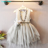 Humor Bear 2015 Summer Baby Girl Toddler Lace Clothing  Dress For Infant Floral Princess Dress Children's Dresses kids Clothing
