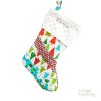 MADE TO ORDER.  Christmas Stocking.   Order before october 15th and get free embroidery. Choose your Fabric. Holidays. Decoration.
