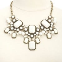 BEAD & GEM STATEMENT BIB NECKLACE