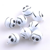 10pcs/lot Skull Bells Home Party Halloween Decoration Pendants DIY Crafts Handmade Accessories Charm Pendants 22.4x18mm CP0588