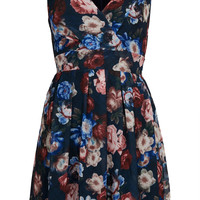 **Floral Cross Bust Dress by Wal G - Dresses  - Clothing