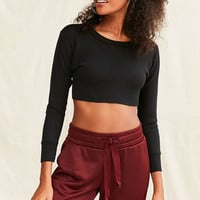 Urban Renewal Remade Cropped Thermal Top - Urban Outfitters