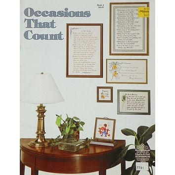 Occasions That Count - Counted Cross Stitch Leaflet