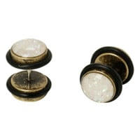 Opal & Black Faux Plug 2 Pack