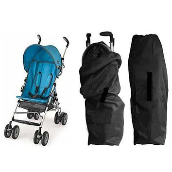 Oxford Cloth Car Air Stroller Pram Baby Bag Buggy Travel Cover Case Black Stroller Accessories