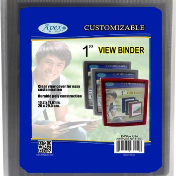 """1"""" View Binders - Assorted Colors - CASE OF 36"""