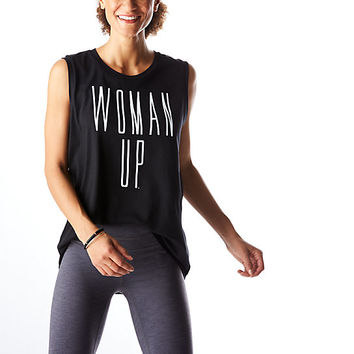 GRAPHIC TANK WOMAN UP | Sleeveless | lucy Activewear