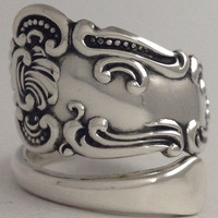 Size 9 Vintage Sterling Silver Spoon Ring