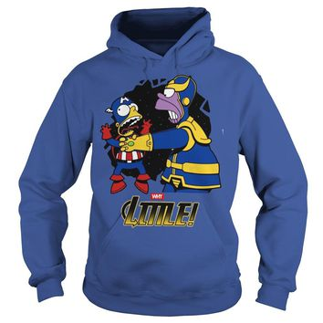 Homer Simpson Thanos vs Bart Simpson Captain America shirt Hoodie