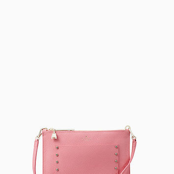 on purpose pink sunset studded leather crossbody | Kate Spade New York