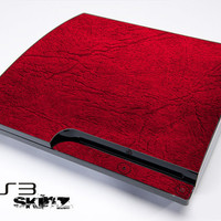 Red Leather Skin For The PS3 Original or Slim Version