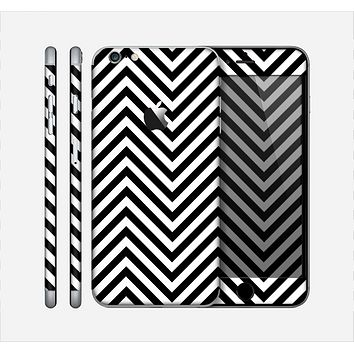 The Black & White Sharp Chevron Pattern Skin for the Apple iPhone 6 Plus