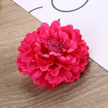 Hot Popular Peony Hairpins Flowers Bohemia Women Beach Holiday Headwear Clips Cute Hair Barrettes Headband Hair Clip F0162