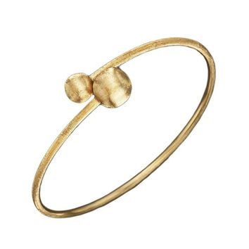 Marco Bicego Africa Small Gold Nugget Bypass Bangle Bracelet