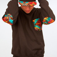 Defyant Aztec Pocket Crewneck : Karmaloop.com - Global Concrete Culture
