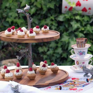 Song Bird Cheese Stand Two Tier
