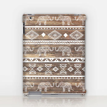 Tribal Elephant iPad Case For - iPad 2, iPad 3, iPad 4 and iPad Mini, Fine Art Hard Case