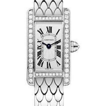 Cartier - Tank Americaine Mini - White Gold