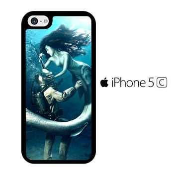Diver and The Mermaid iPhone 5C Case