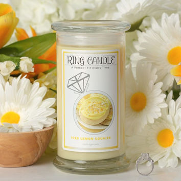 Iced Lemon Cookies Ring Candle