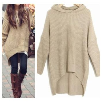 LOOSE IRREGULAR FASHION SWEATER