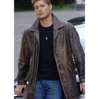 Supernatural Distressed Leather Coat | Brown Dean Winchester jacket