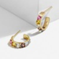 Regina 18K Gold Plated Huggie Hoop Earrings